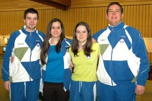 Urška Kuharič (druga iz leve) strelka ormoškega Kovinarja je blestela v Nemčiji in si priborila pot na EP v Moskvi.