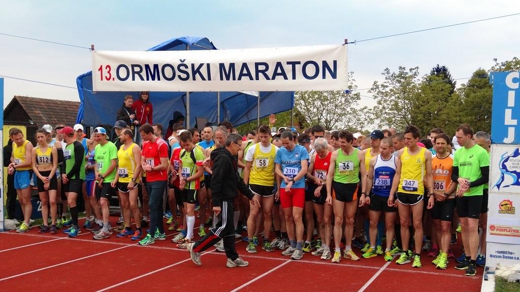 Na 13.Ormoškem maratonu čez 400 tekačev