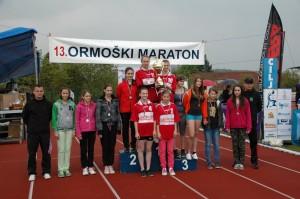 Dekleta OŠ Ormož so osvojile prestižno tekmovanje v štafeti.