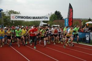 Udeležba na 13. ormoškem malem maratonu je bila izjemna. Zbralo se je nekaj več kot 300 udeleženk in udeležencev.