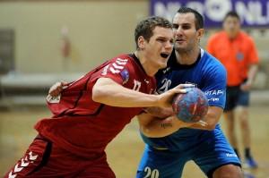 Aleš Šišmanovič (Šika), modri dres, je proti Krki zagotovo odigral zadnjo tekmo v dresu Jeruzalema. Njegova nova destinacija je Avstrija.