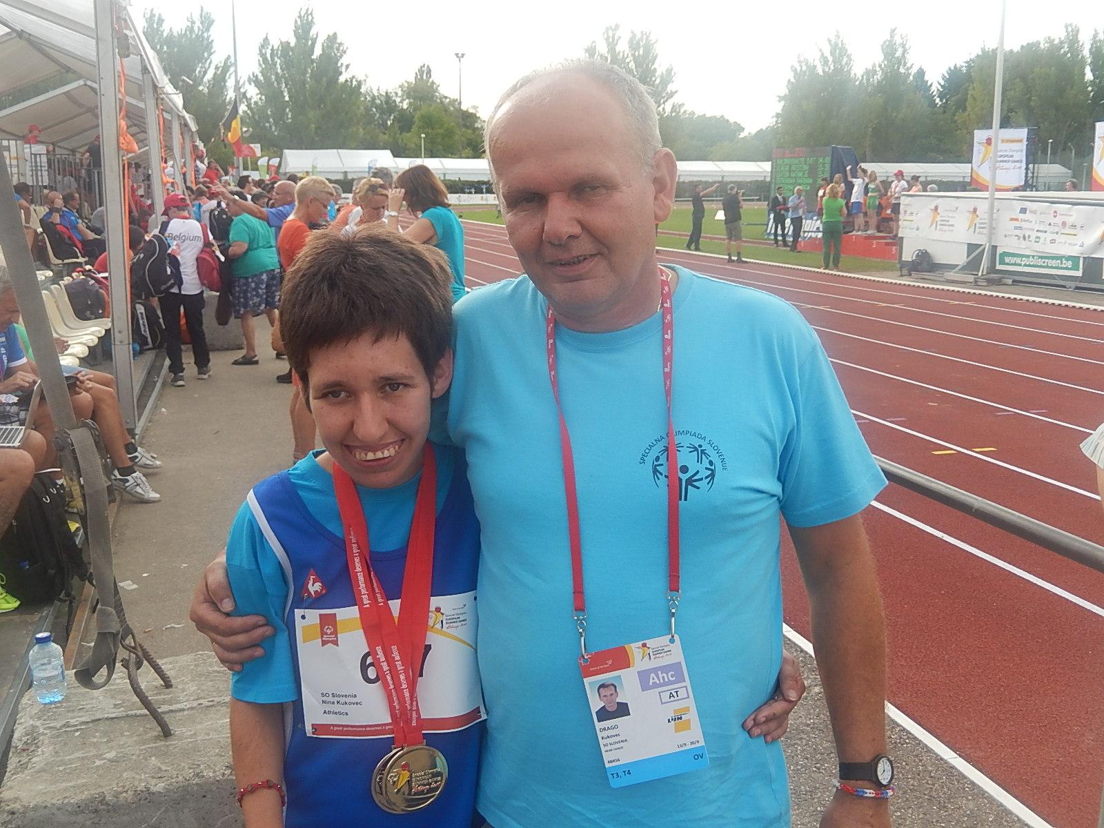 Ormožanka NINA KUKOVEC na specialni olimpiadi v Belgiji osvojila ZLATO
