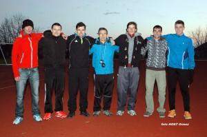 Šesterica članov AK Ormož in predsednik Ivan Golob (v sredini) je prelep sobotni popoldan preživela v legendarni Mestni grabi.