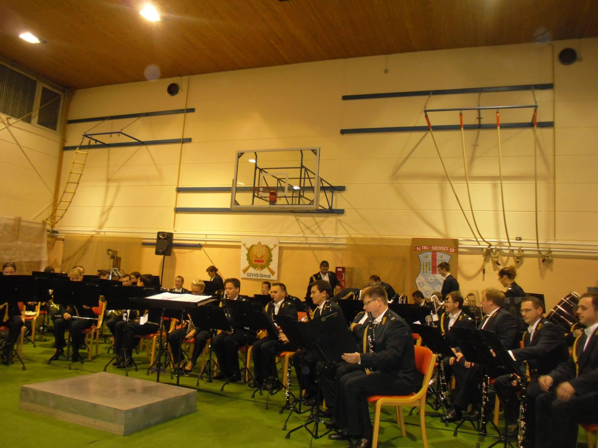 S koncerta Slovenske vojske v Središču ob Dravi