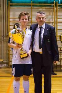 Miha Magdič je kapetan ekipe Tomaža do 21 let.