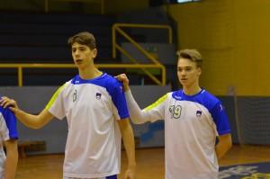 Gašper Horvat in Tilen Kosi (RK Jeruzalem Ormož). Ena od desetih Ormožanov, ki jih čakajo reprezentančne obveznosti.