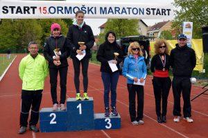 V teku na 21 km je slavila Jasmina Ilijaš. Foto: HOST