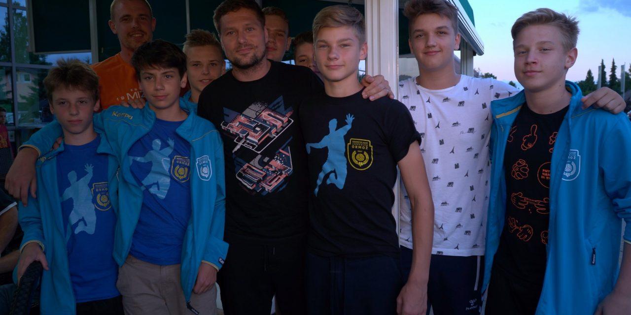 ROKOMET: Marko Bezjak in Matej Gaber na obisku v Ormožu