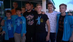 Mladi Ormožani z Markom Bezjakom in Matejem Gabrom.