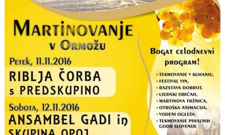 Spored KTV ORMOŽ: nocoj ob 20.uri predstavitev prireditev v okviru Martinovanja 2016