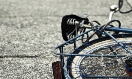 Nesrečno jutro za kolesarja