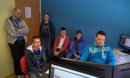 Foto-video krožek OŠ ORMOŽ na obisku v studiju KTV ORMOŽ: