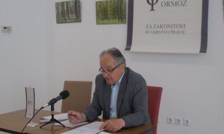 Z današnje tiskovne konference Društva Forum Ormož: