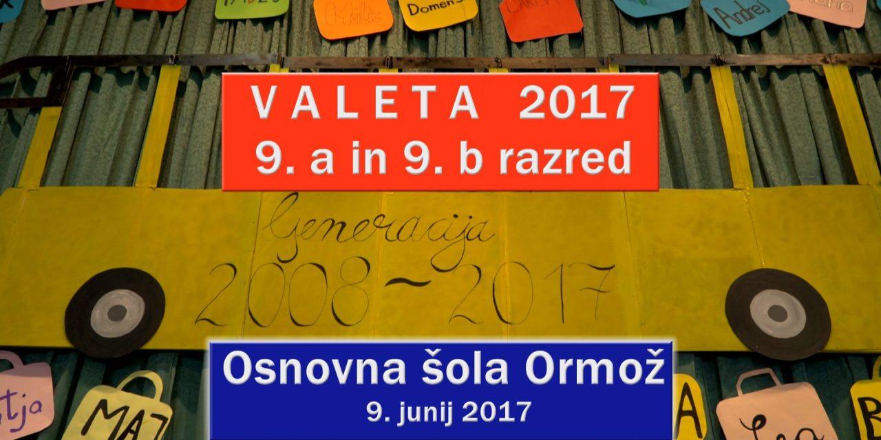 Spored KTV: jutri (petek) ob 20.00 uri posnetek valete 2017 OŠ Ormož