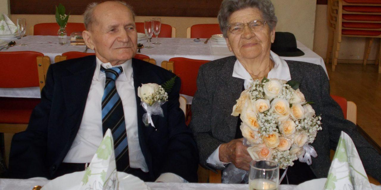 Platinasta poroka (70 let) Katarine in Štefana Trstenjaka iz Središča ob Dravi