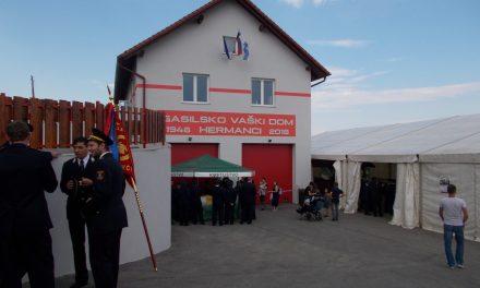 V Hermancih ponosni na svoj novi gasilsko-vaški dom (s 47.dneva gasilcev v Hermancih:)