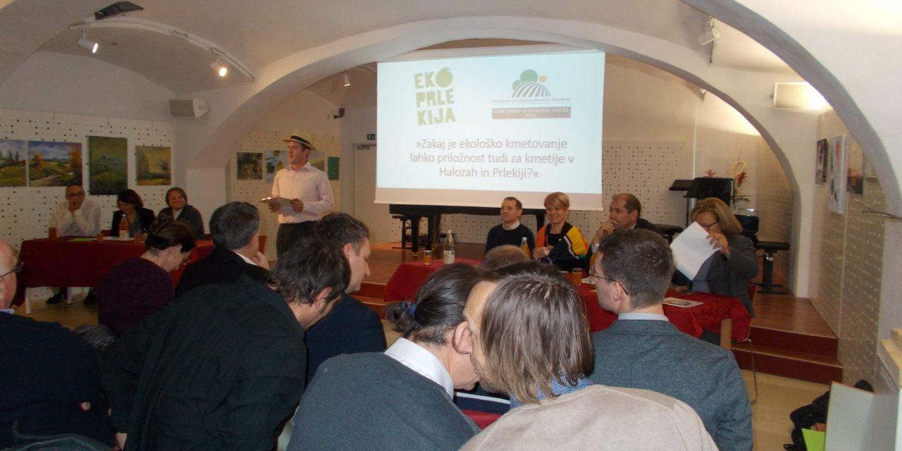 """Z """"okrogle mize"""" skupnosti ekoloških kmetov """"Eko Prlekija"""": ekološko kmetovanje  priložnost za kmetije v Halozah in Prlekiji"""