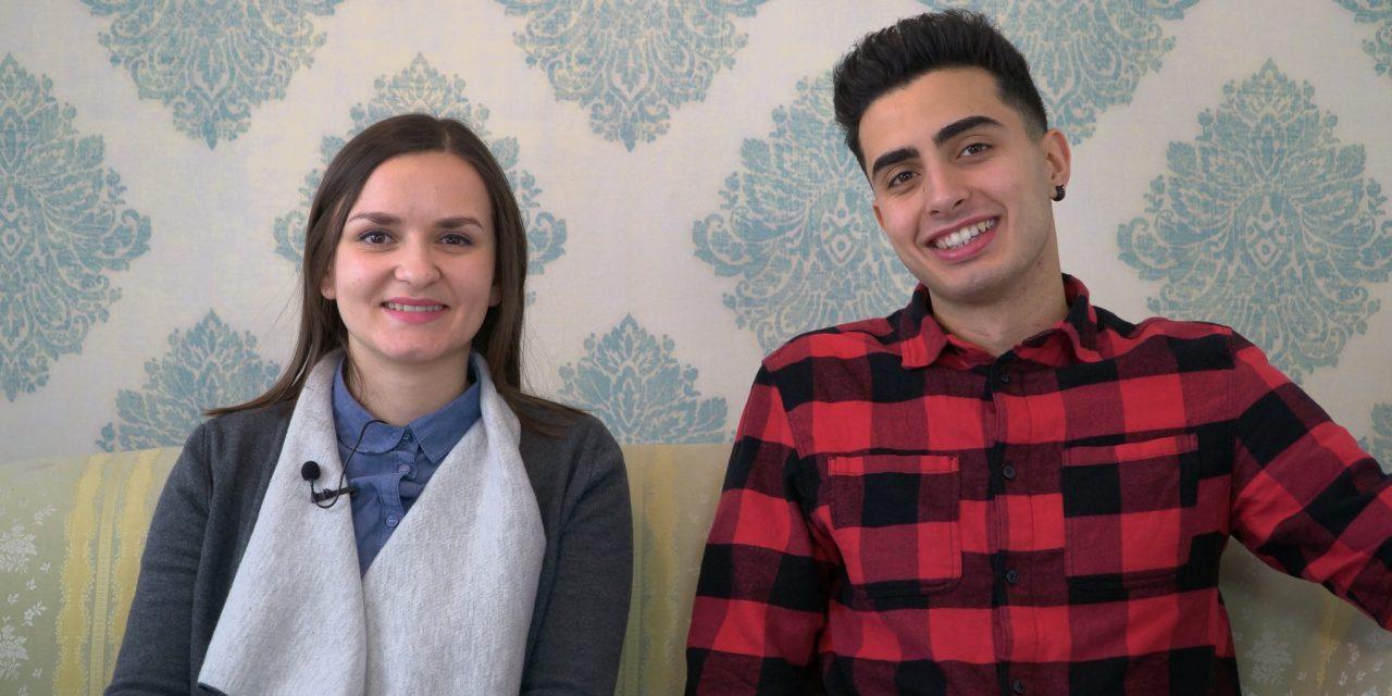 """SPORED KTV ORMOŽ: v nocojšnji oddaji """"Med nami povedano"""" mlad prostovoljec iz Italije MARTE COLANTONI in prevajalka MARINA KORPAR"""