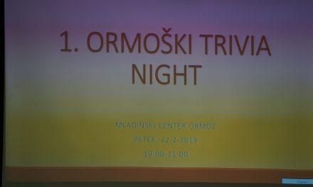 Kviz TRIVIA NIGHT navdušil Ormožane