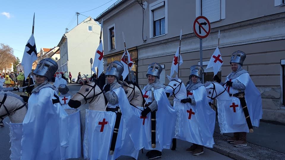PRVO mesto na današnjem pustnem karnevalu v Ormožu odnesli vitezi Templarji (TED Sodinci)