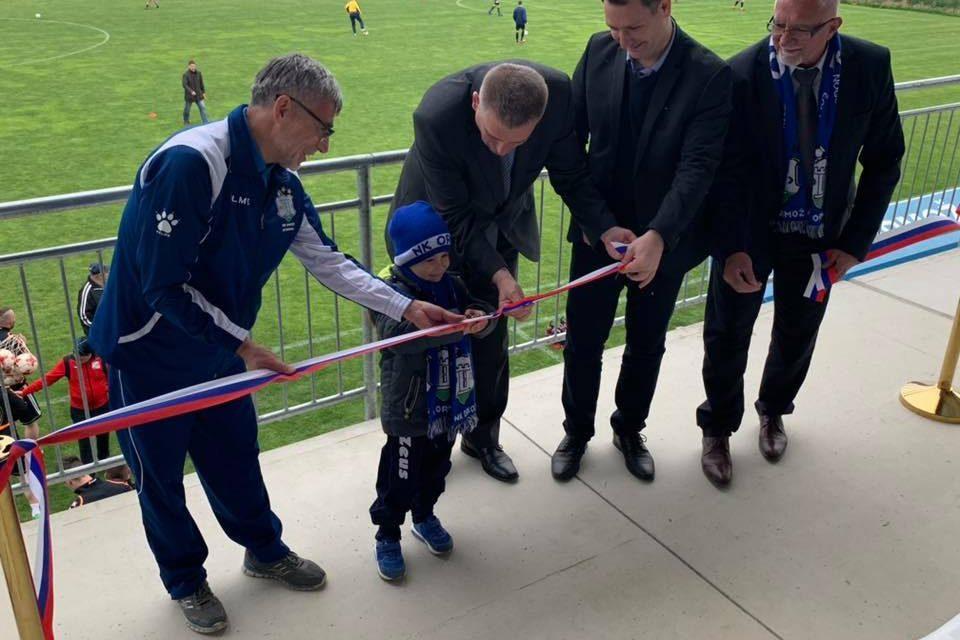 Slovesno odprtje novih tribun na nogometnem igrišču v Ormožu