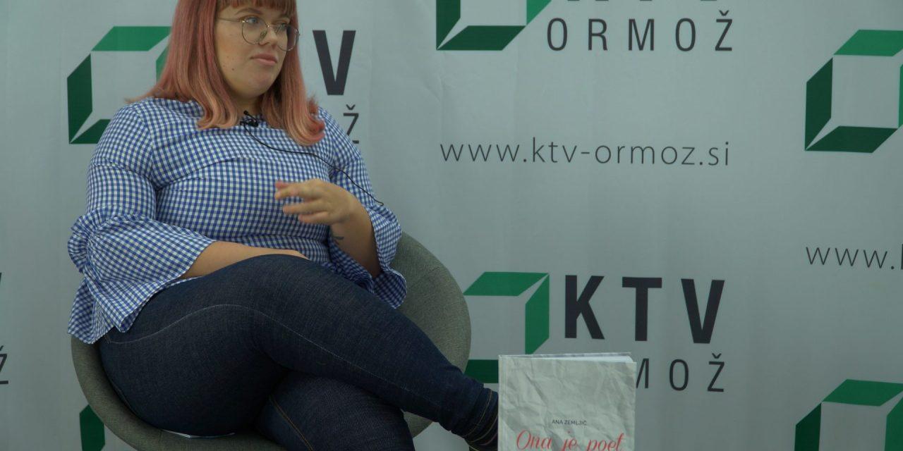"""SPORED KTV ORMOŽ: V nocojšnji oddaji """"Med nami povedano"""" bo gostja mlada pesnica ANA ZEMLJIČ"""